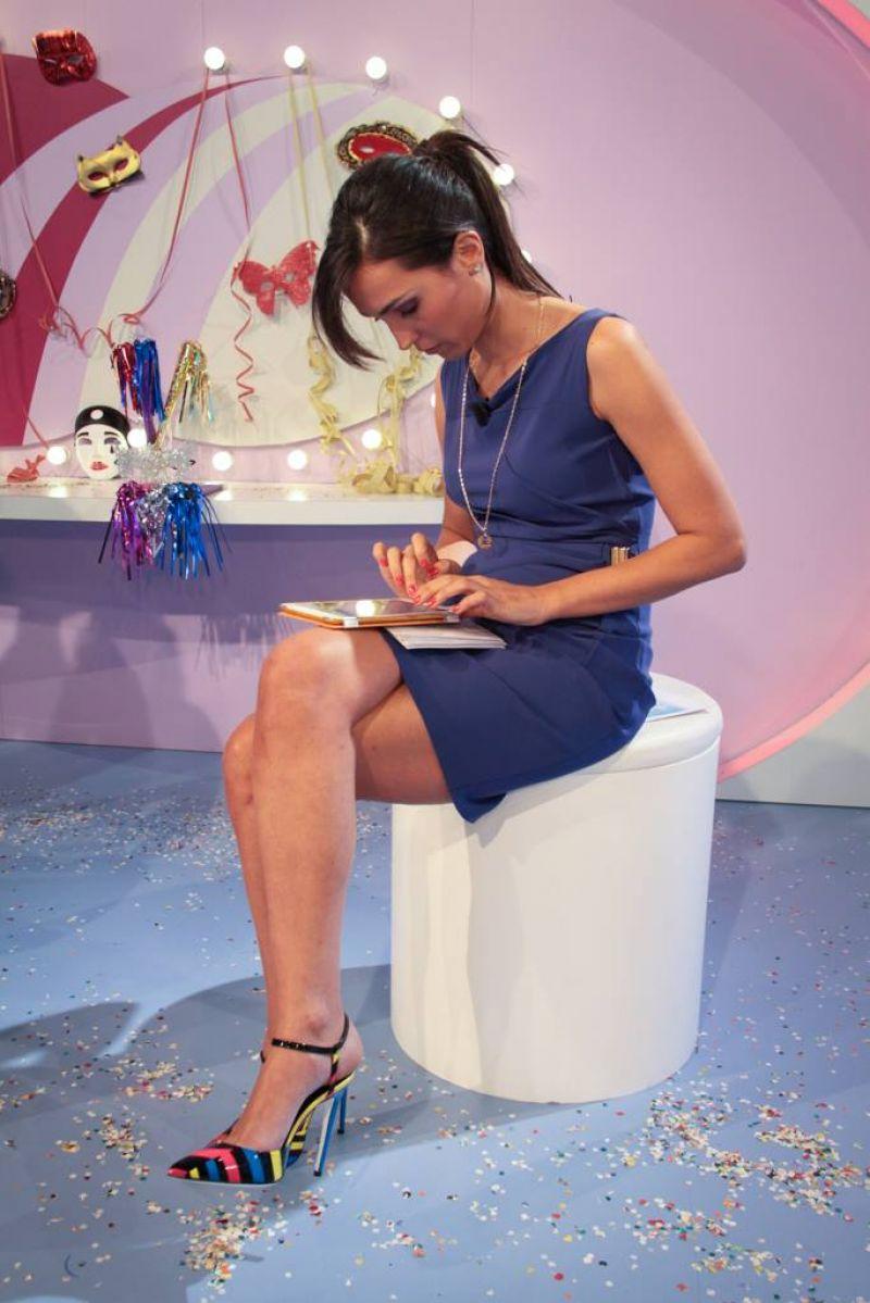 Caterina Balivo in Mini Dress