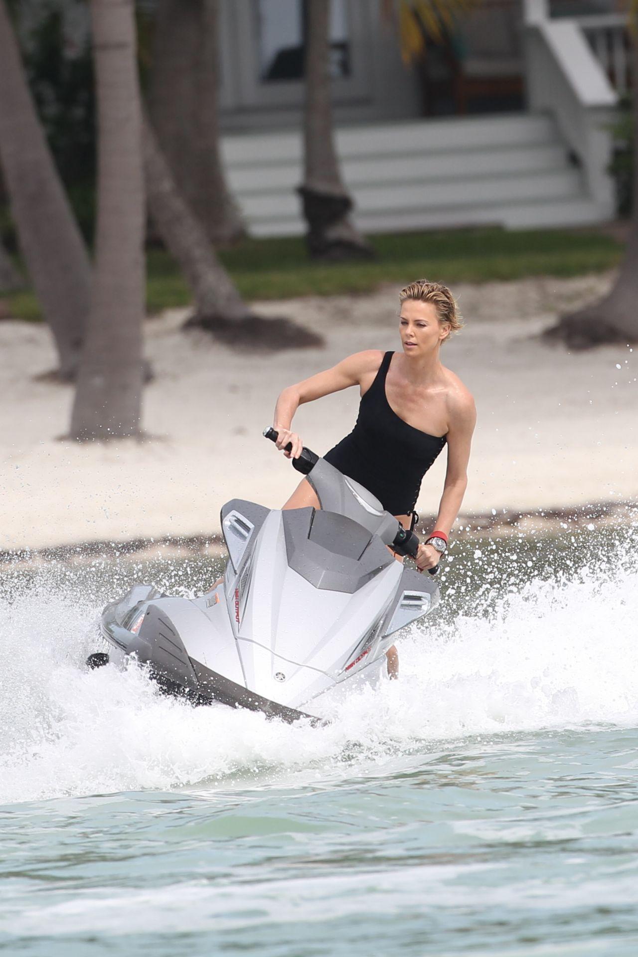 charlize theron in a bikini photoshoot in miami beach