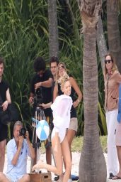 Charlize Theron - Swimsuit Photoshoot in Miami - March 2014