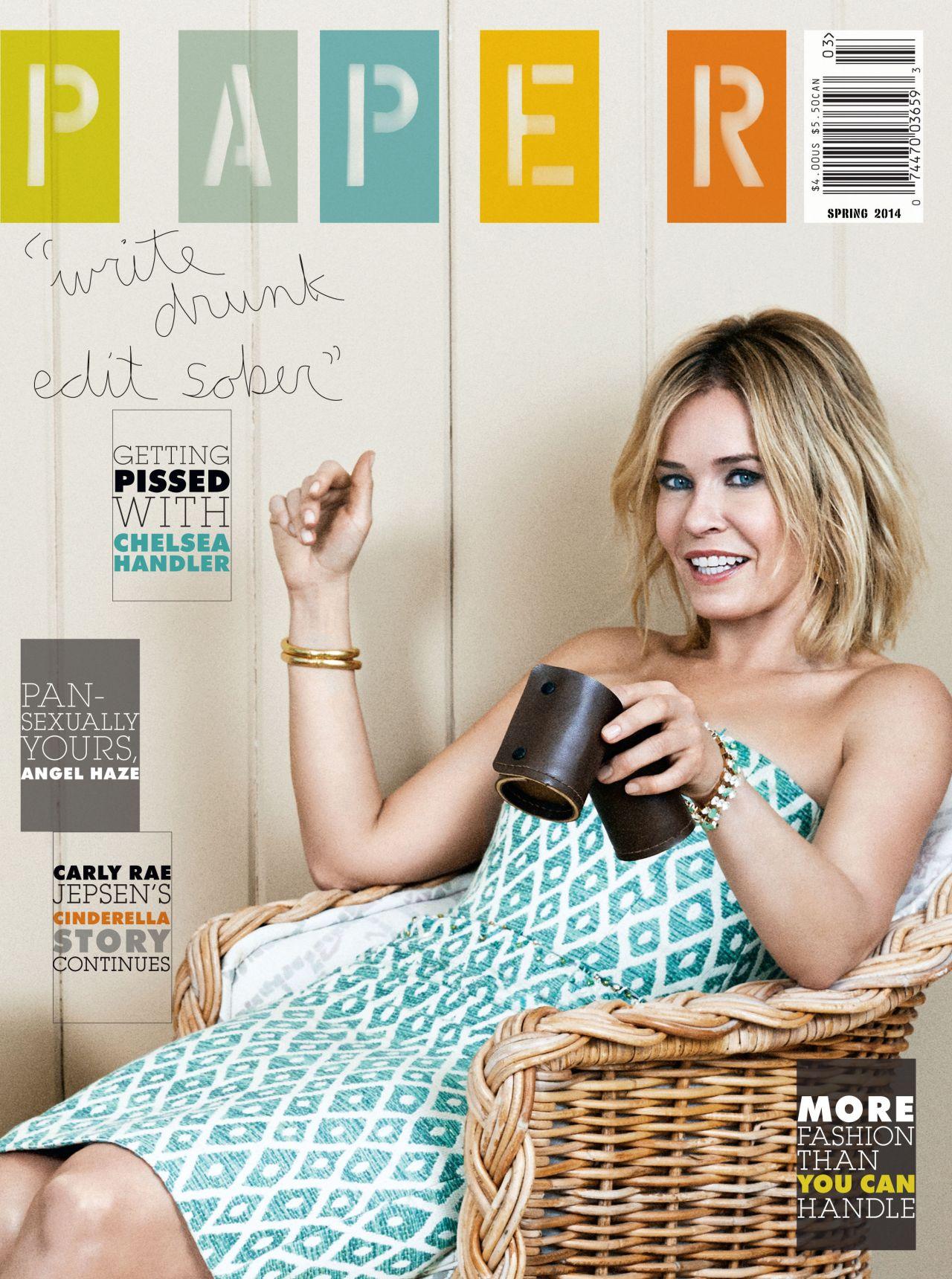 Chelsea Handler Paper Magazine Spring 2014 Issue