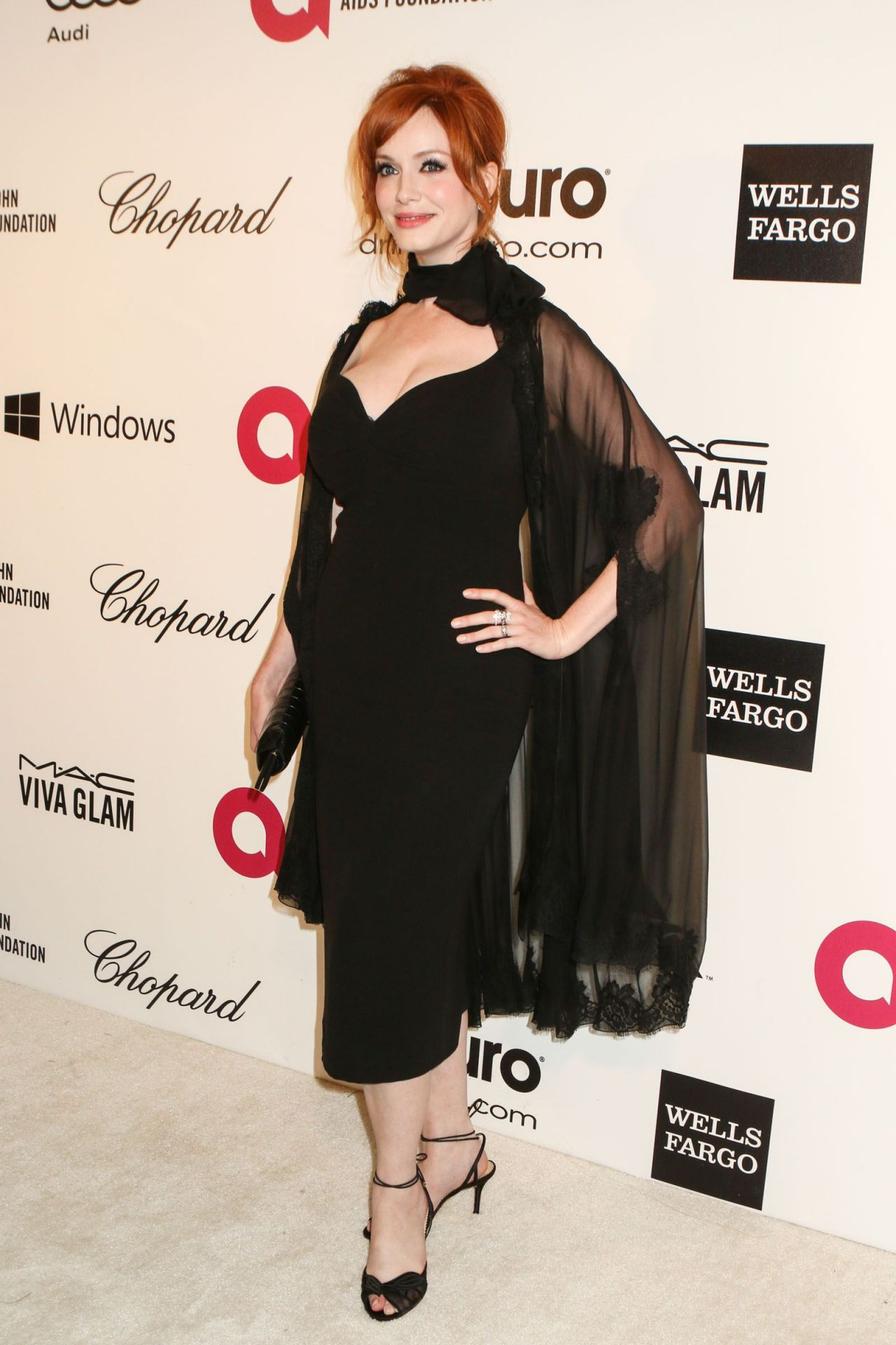 Christina Hendricks - 2014 Elton John AIDS Foundation Oscar Party