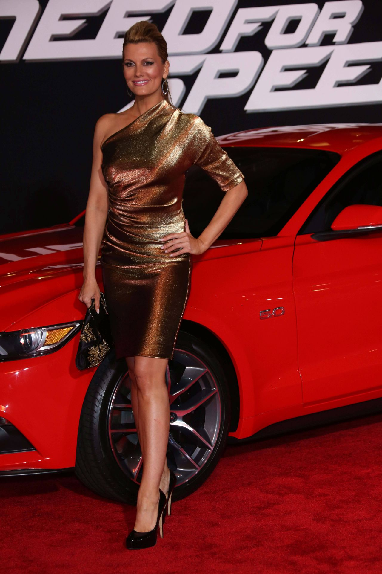 Courtney Hansen On Red Carpet Need For Speed Premiere