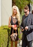 Courtney Stodden in Mini Dress - Signs Up For