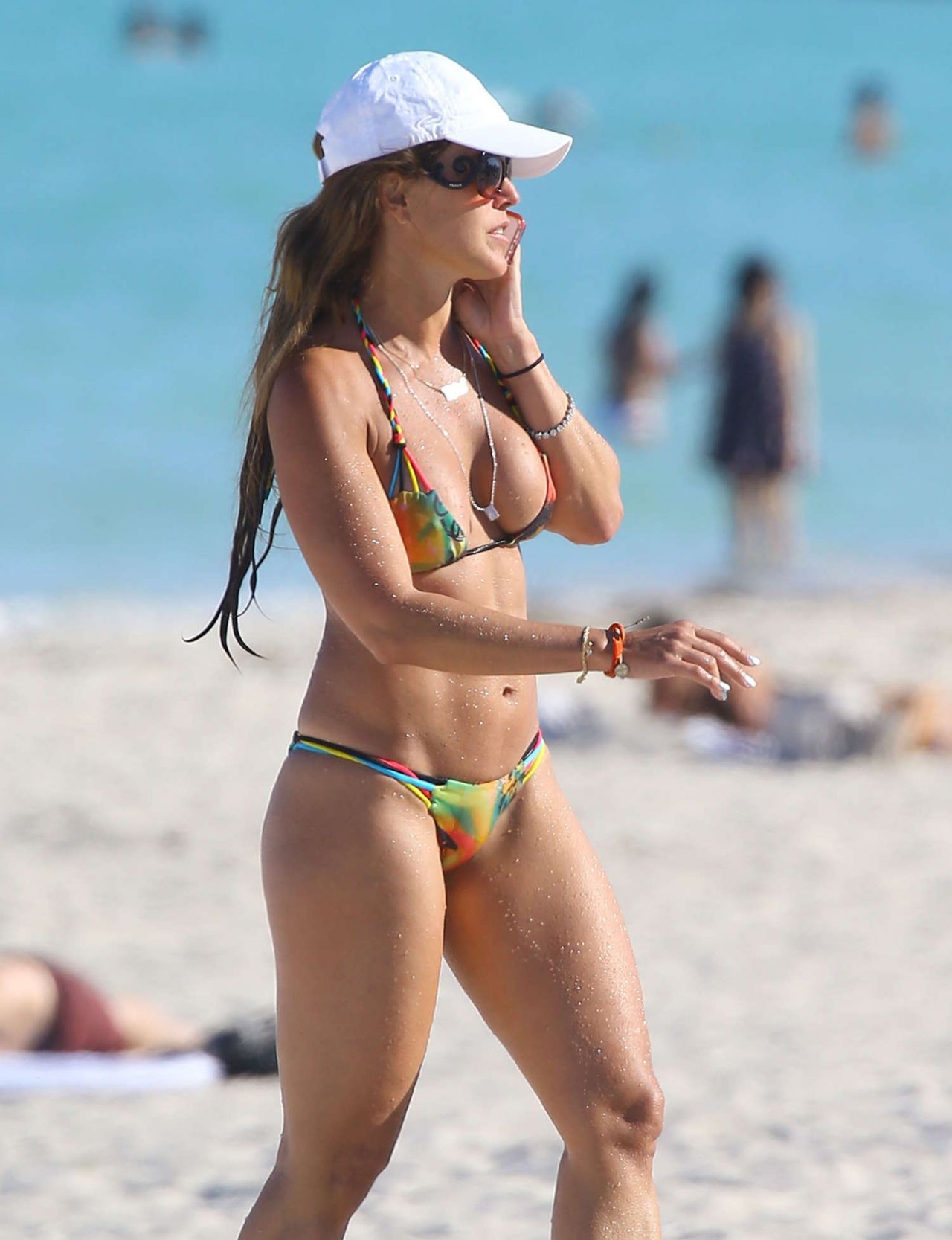 Cristy Rice in Teeny Bikini - Miami Beach - March 2014