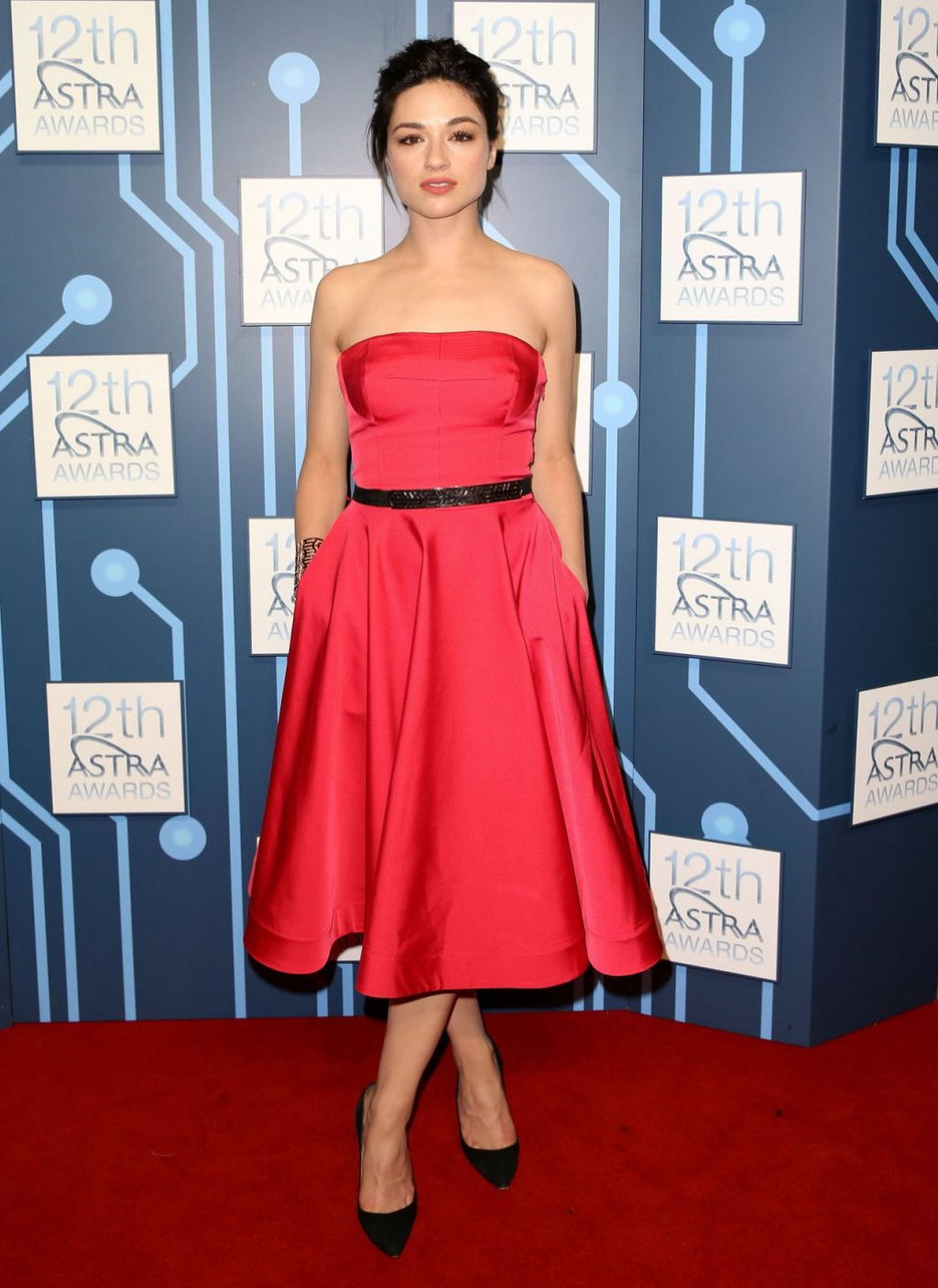 Crystal Reed In Escada Dress at 2014 ASTRA Awards in Sydney