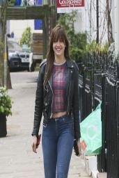 Daisy Lowe in Jeans - Out in London - March 2014