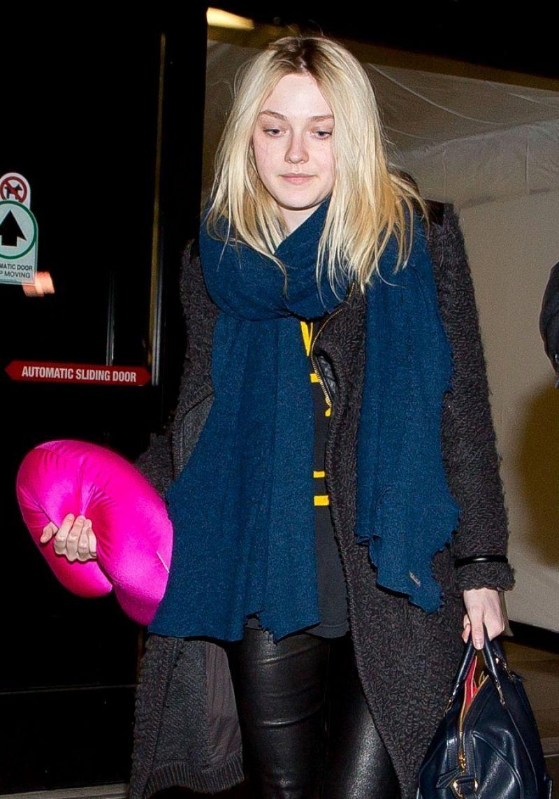 Dakota Fanning at LAX Airport, March 2014