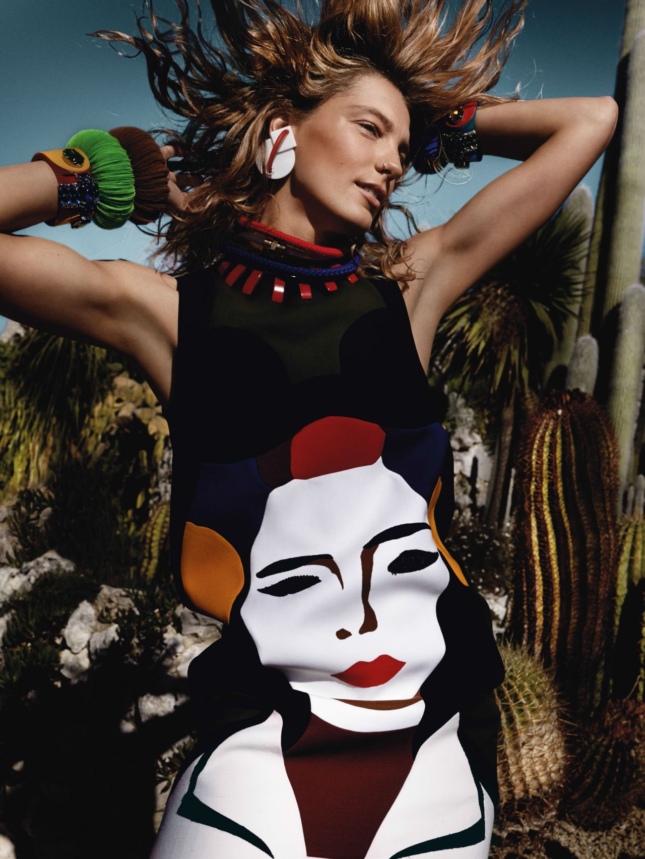 Daria Werbowy - Vogue Magazine (UK) - March 2014 - Photos by Mario Testino