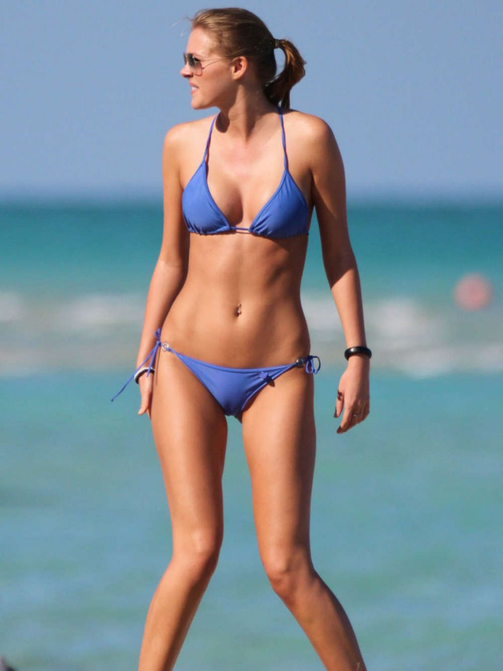 Deimante Guobyte in Blue Bikini - Miami, March 2014