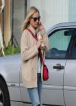 Diane Kruger in Ripped Jeans - Leaving Andy LeCompte Hair Salon in West Hollywood