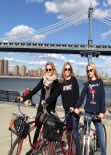 Dianna Agron in Brooklyn - Bike Riding in With Friends (twitpic)