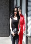 Dita Von Teese Street Style - Leaving Her Yoga Class - Los Angeles, March 2014