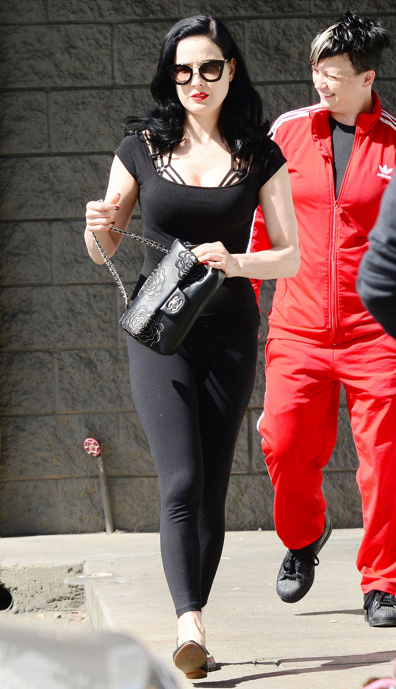 Dita Von Teese Street Style Leaving Her Yoga Class Los Angeles March 2014