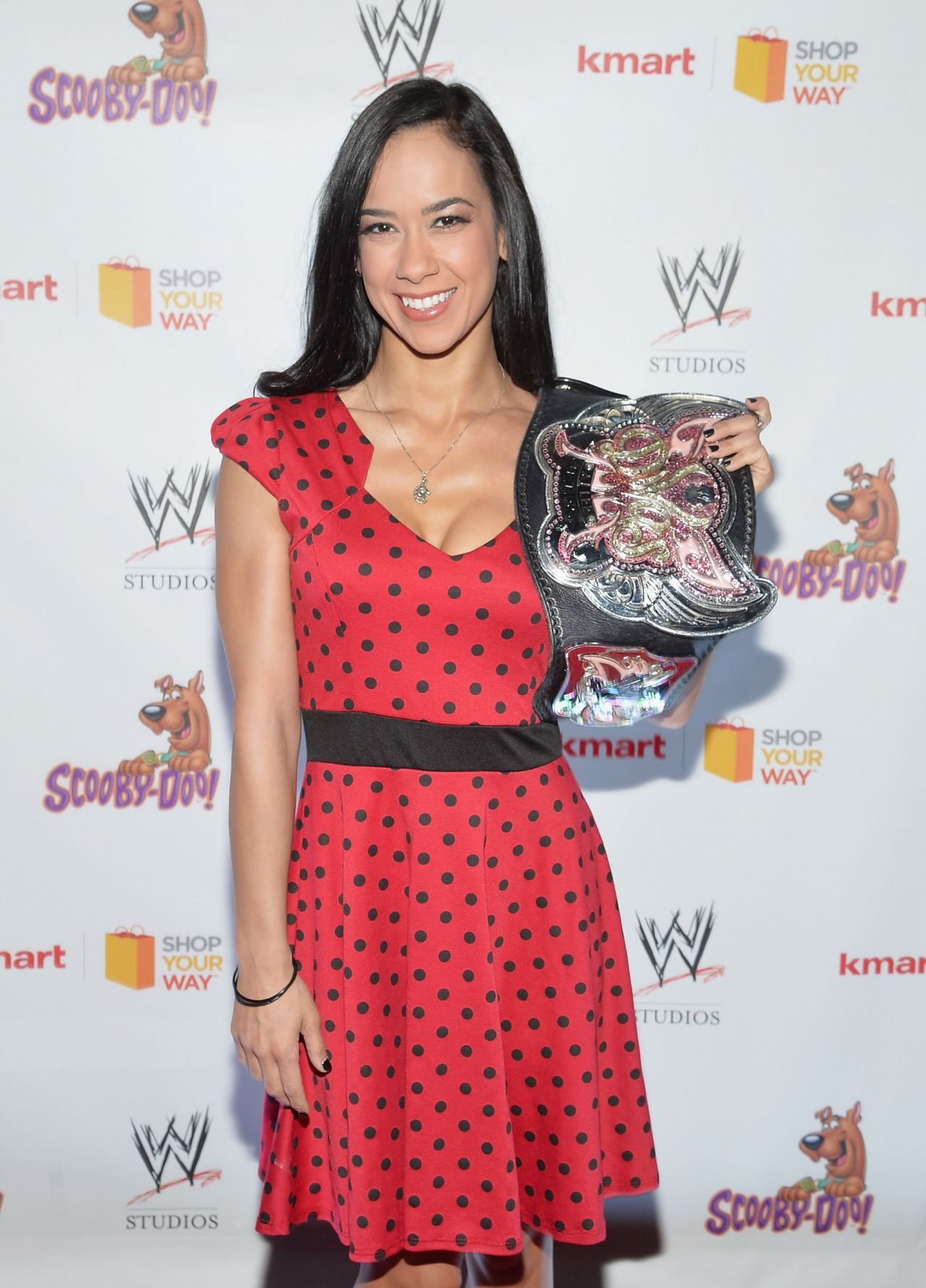 Diva AJ Lee - Scooby Doo! WrestleMania Mystery Premiere in New York City