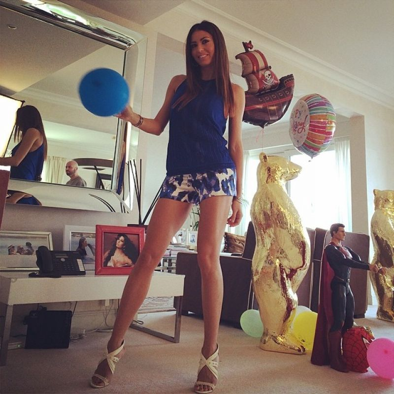 Elisabetta Gregoraci in Micro Shorts - Instagram Pic - March 2014