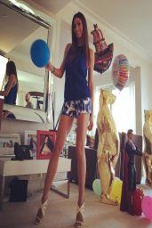 Elisabetta Gregoraci in Micro Shorts - Instagram Pic - March 2014