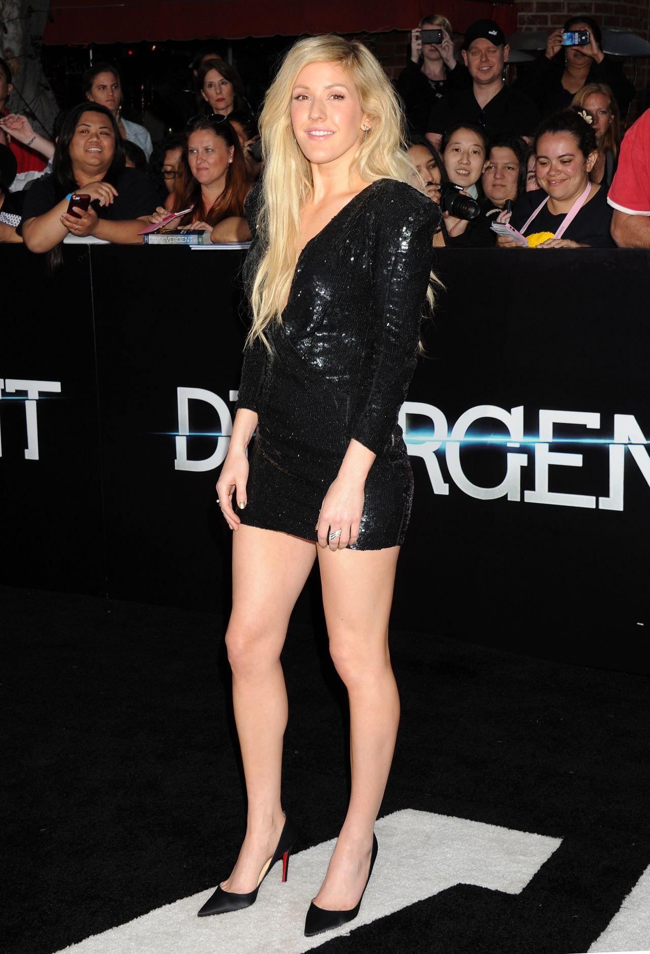 Ellie Goulding In Mini Dress Divergent Premiere In Los Angeles