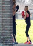 Ellie Goulding - Work out With a Personal Trainer - London Park