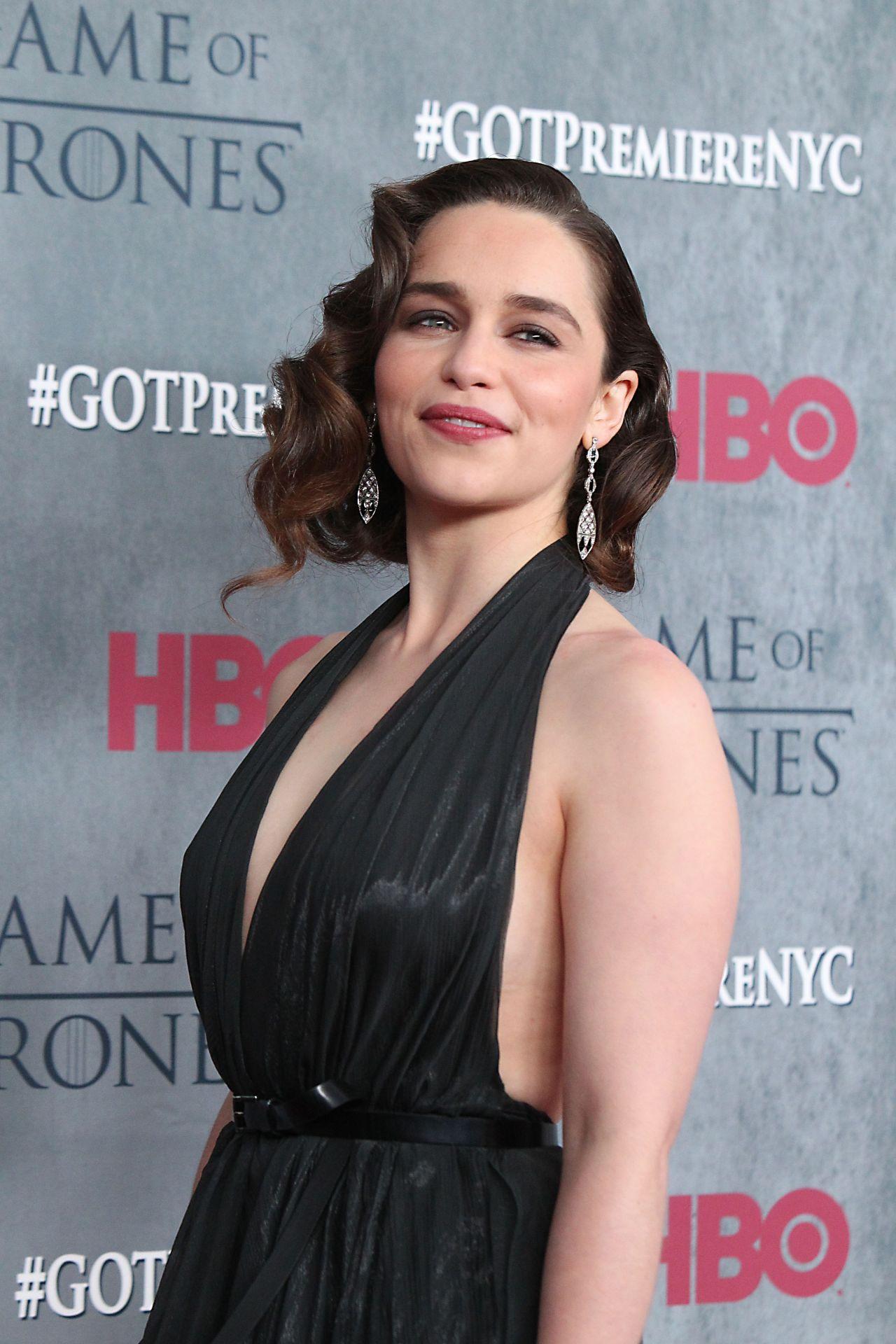 emilia clarke at game of thrones season 4 premiere in