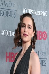 Emilia Clarke at 'Game of Thrones' Season 4 Premiere in New York