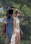 Emily Browning - 'The Shangri-La Suite' Movie Set Photos