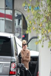 Emma Roberts in Leather Pants - Gets Gas in West Hollywood - March 2014