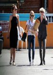 Emma Roberts Street Style - Meets up With Girl Friends - March 2014