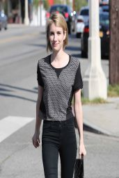 Emma Roberts Street Style - Out in Los Angeles - March 2014
