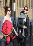 Emma Watson in Leggings - Out in East London, March 2014