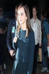 Emma Watson in Miniskirt at LAX Airport, March 2014