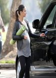 Emmanuelle Chriqui - Entourage Set Photos, March 2014