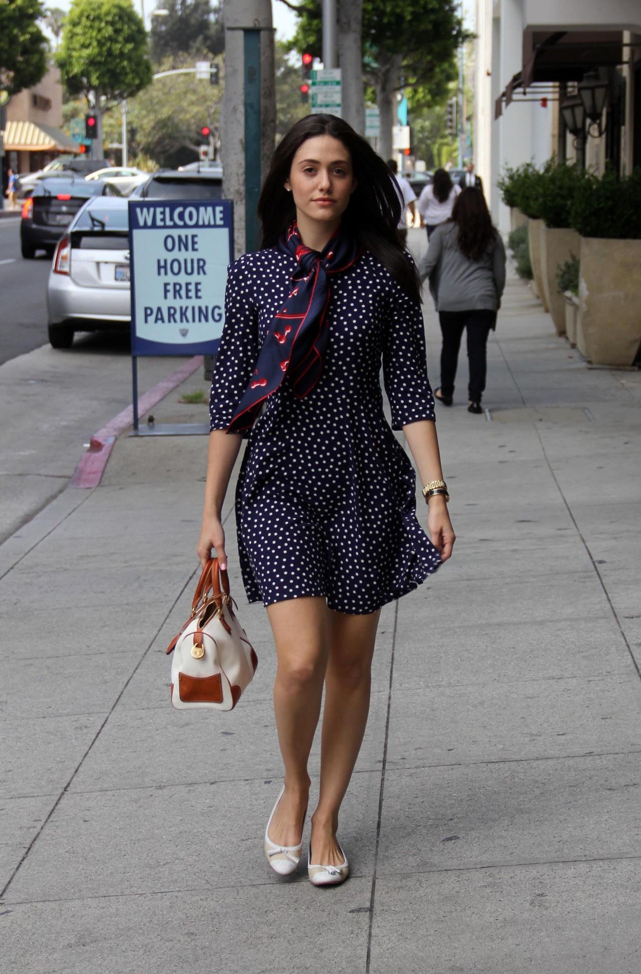 Emmy Rossum in Minidress - Out in Beverly Hills - March 2014