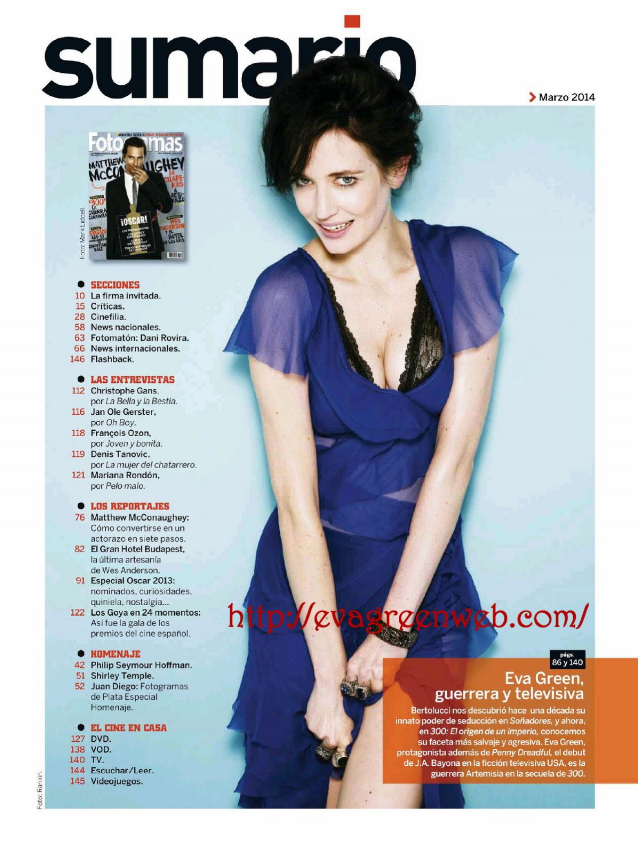 Eva Green - Fotogramas Magazine (Spain) - March 2014 Issue
