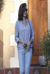 Eva Mendes Street Style - Stops by a Friends House in West Hollywood - March 2014
