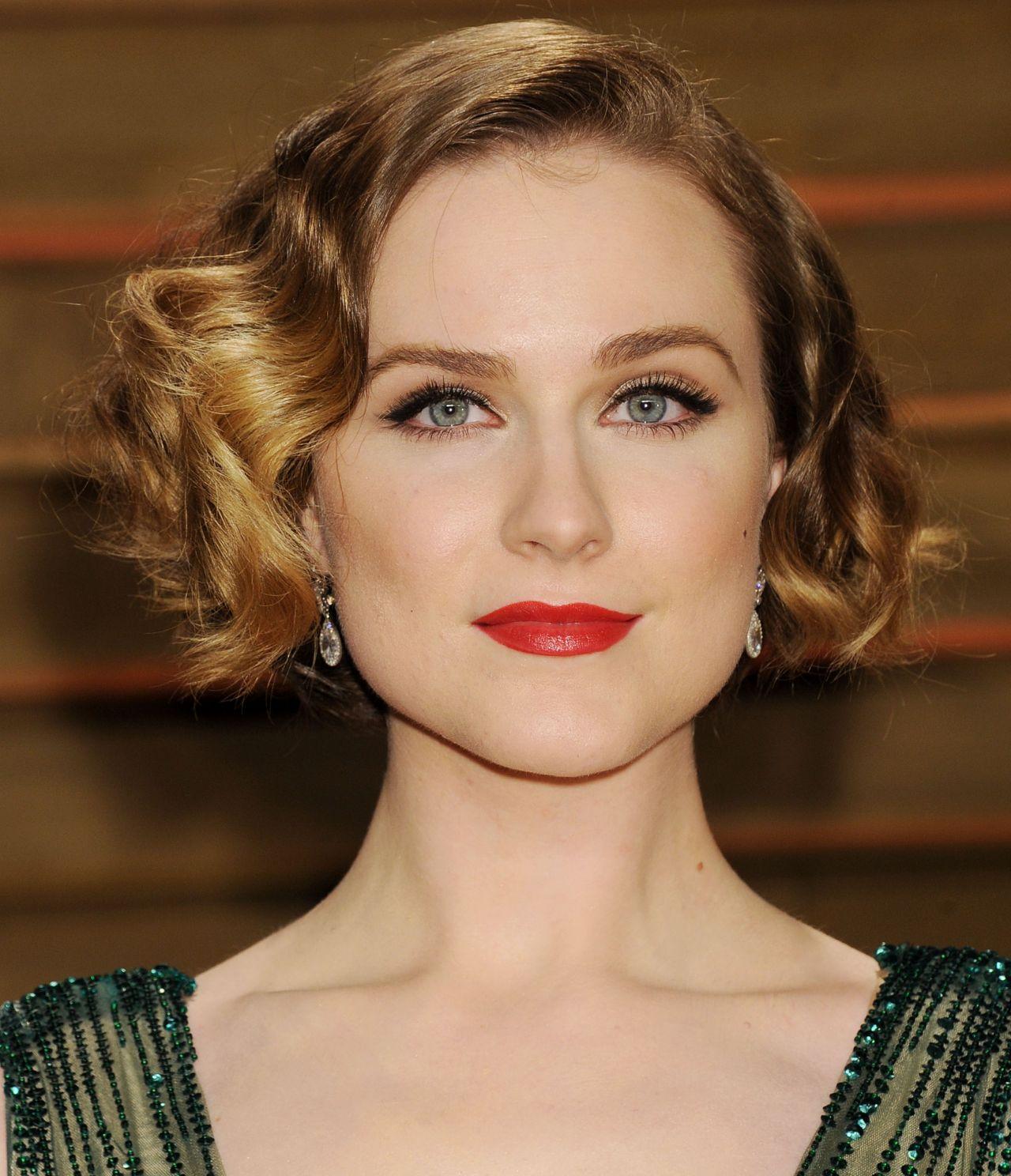 Evan Rachel Wood In Elie Saab Fall 2013 Couture Gown 2014 Vanity Fair Oscars Party