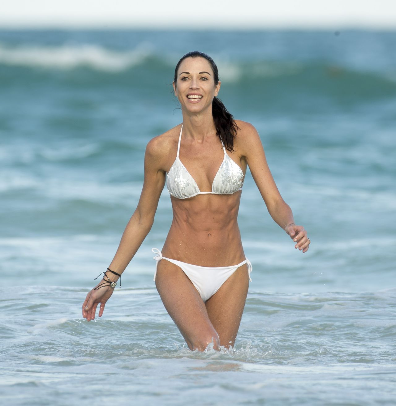 Federica Torti in White Bikini - on Vacation in Miami - March 2014