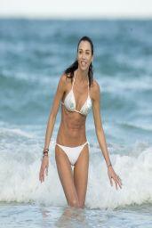 Federica Torti in White Bikini - on Vacation in Miami - March 2014