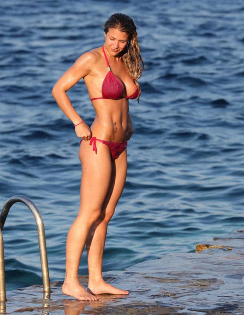 Gemma Atkinson in Pink Bikini - March 2014