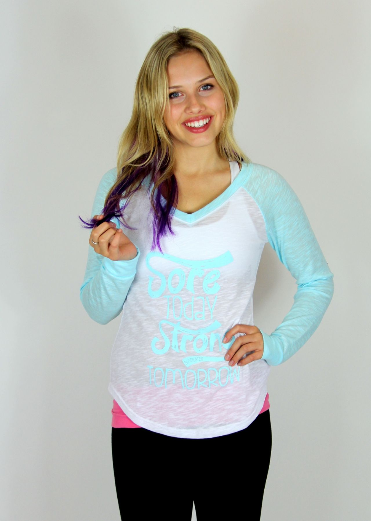 Gracie Dzienny - Blogilates Photoshoot 2014
