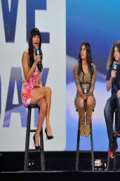 Hannah Simone in Mini Dress - We Day California in Oakland - March 2014
