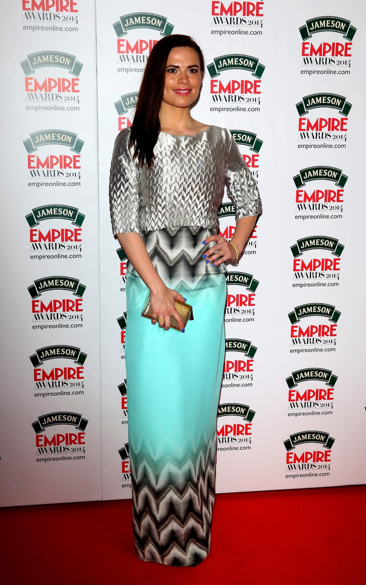 Hayley Atwell Wearing Georgia Hardinge Dress - Jameson Empire Awards 2014