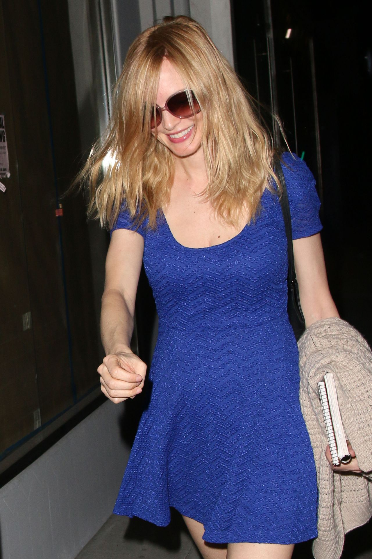 Heather Graham Night out Style - Leaving Crossroads Vegan Restaurant in West Hollywood