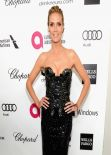 Heidi Klum in Atelier Versace Spring 2014 Black Strapless Gown - 2014 Elton John AIDS Foundation Oscar Party