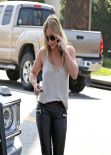 Hilary Duff in Leather Leggings - Out in West Hollywood