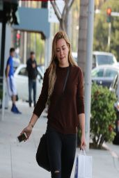 Hilary Duff in Ripped Jeans - Out in Beverly Hills - March 2014