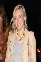 Hilary Duff Night Out Style - at Crossroads Resturant With Friends in Los Angeles - March 2014