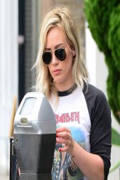 Hilary Duff Street Style - Out in Beverly Hills - March 2014