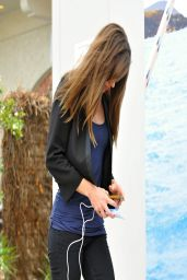 Hilary Swank Street Style - Out in Brentwood - March 2014