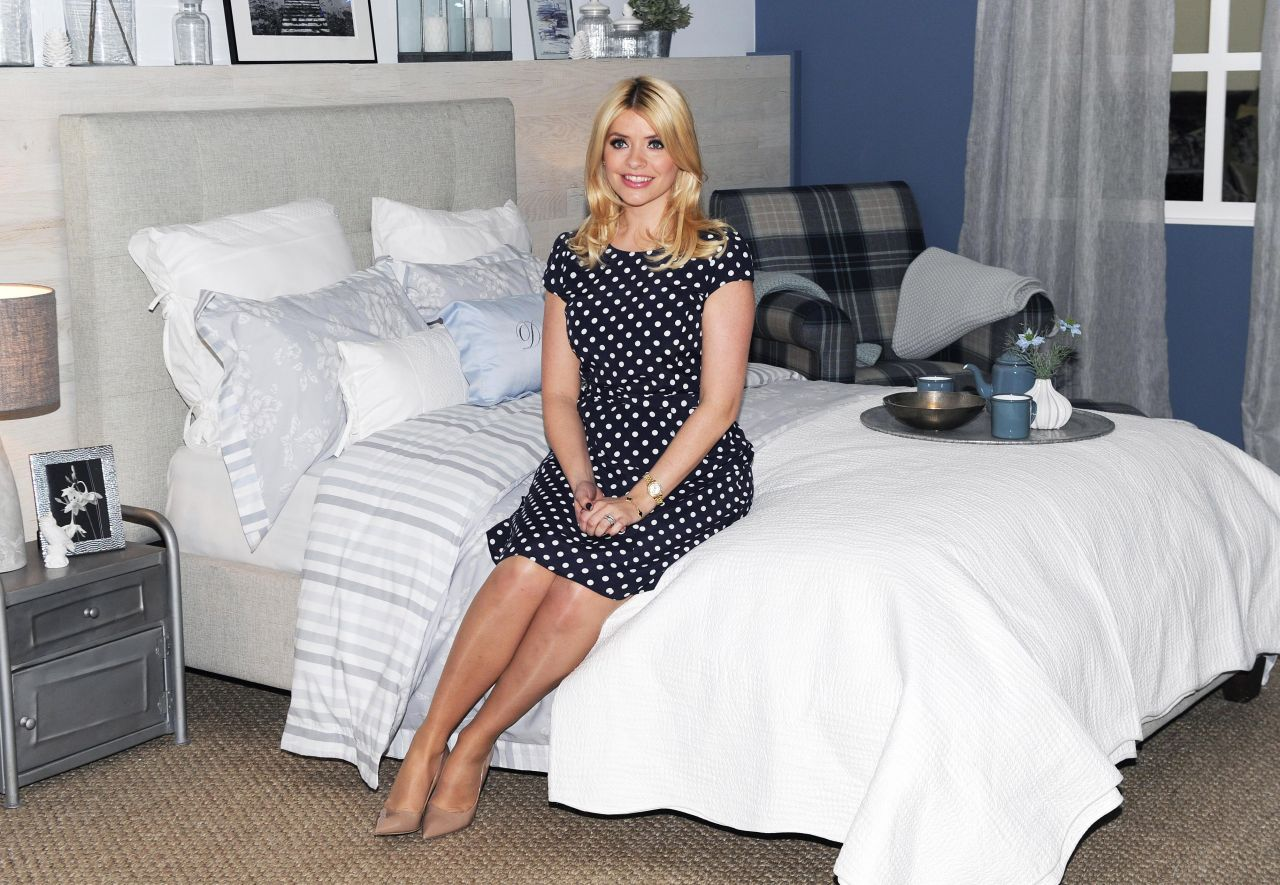 Holly Willoughby - Photocall For Her Bedding Collection Launch in London - March 2014