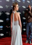 Imogen Poots in Nina Ricci Spring 2014 Chiffon-and-Lace Gown - Need For Speed Premiere in Hollywood